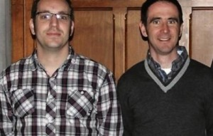 Fr Michael King and Fr John O'Halloran. Pic courtesy Connacht Tribune.