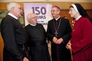 Archbishop Diarmuid Martin with Fr Seamus Enright, CSsR, Fr Dan Baragry, CSsR, Redemptorist Provincial, Sr Lucy Conway, OSsR Redemptoristine Prioress. Photo: Paul Sherwood.