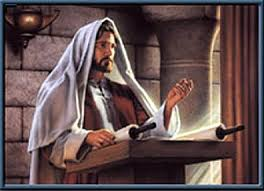 Jesua reads the scripture