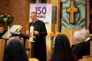 Archbishop Diarmuid Martin launches 150th anniversary celebrations of veneration to Mother of Perpetual Help. Photo: Paul Sherwood.