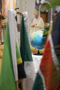 1.1.2016 WORLD DAY OF PRAYER FOR PEACE. The annual Mass for World Day of Prayer For Peace took place this morning (1.1.16) in the Church Of Our Lady Of Perpetual Succour in Foxrock Dublin. The main celebrant was Archbishop Diarmuid Martin Archbishop of Dublin. Pic shows Archbishop Diarmuid Martin at the World Day of Prayer For Peace mass in the Church of Our Lady of Perpetual Succour in Foxrock Dublin on Friday morning. Pic John Mc Elroy. NO REPRO FEE.