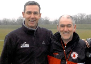 Photo shows Gerard Hartmann and Mickey Harte, who will be among the speakers at a major conference on 24 February that will look at how the Church can learn from the sense of community engendered by sporting organisations.