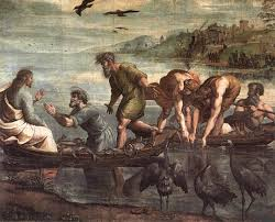 Jesus and peter in boat