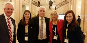 MLAs with Bernadette Smyth