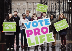 Voting Pro-Life in #GE16 are, L to R: Yi Wang, Neil Fox, Damilola Makinde, Jacob Moran, Karen Fahy, Eoin Lynch Sola Oworu and Alanna Crawford.