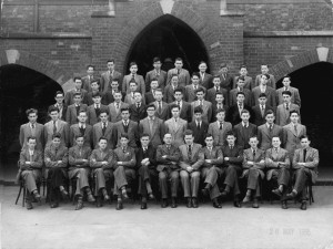 Terry Wogan in Belvedere College (3rd row from the bottom, seventh in from the left) 1956. Courtesy Belvedere College Archives.