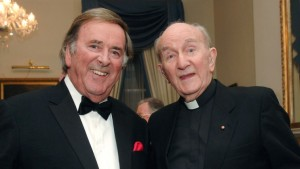 Terry Wogan with his former teacher Fr Kevin Laheen SJ. Courtesy: Jesuits.ie