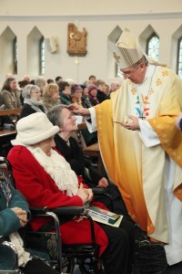 Archbishop Diarmuid Martin anointing a lady during the World Day of the Sick Mass in the Church of Our Lady Queen of Peace Merrion Road, Dublin. Pic John Mc Elroy.