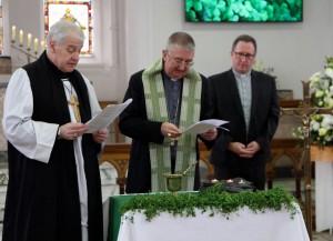 Archbishop Diarmuid Martin and Archbishop Michael Jackson blessing teh shamrock at DIT Grangegorman. Pic courtesy: Lynn Glanville.