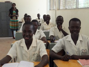 Students in class at Loreto Rumbek in South Sudan, one of the first secondary schools for girls in the world's newest nation. Pic courtesy: Mary Ward International Ireland.