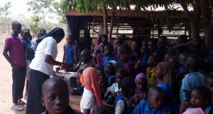 Sr Juliet Ifediba OLA in Durumi IDP Camp in Abuja, Nigeria.