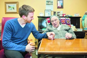 Filmmaker James Creedon with Sr Paschal (Jennie) O'Sullivan RIP