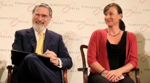 Rabbi Lord Jonathan Sacks, and Jennifer Simpson, Chair of the John Templeton Foundation Board of Trustees.