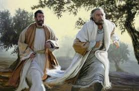 Peter and John run to the Tomb of Jesus