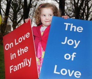 Pic shows Maeve Liffey at the press conference in Dublin on Friday to welcome the publication of Pope Francis Amoris Laetitia (The Joy of Love: On Love in the Family) Pic John Mc Elroy.