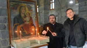 Syriac Orthodox Bishop Selwanos Alnemeh of Homs and John Pontifex of ACN. Pic courtesy: http://www.acnuk.org/