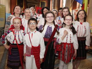 A group from Romania at the Festival of Peoples on Sunday in Pro Cathedral. Pic John Mc Elroy.