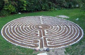 Labyrinth of St John's Convent, Toronto where ARCIC III meeting took place this week.