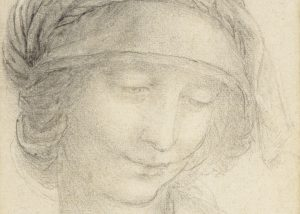 A study for the head of St Anne, c.1510-15. Leonardo da Vinci: Ten Drawings from the Royal Collection Royal Collection Trust / (C) Her Majesty Queen Elizabeth II 2015.