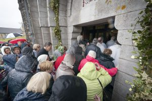 Over four hundred pilgrims crossed the 'Threshold of Mercy' in Lough Derg.