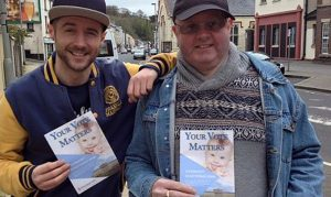 Volunteers from Precious Life distribute 'Your vote matters' leaflets in run up to 2016 Elections.