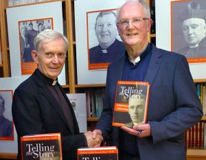Fr Brendan Hoban pictured at the launch of his book 'Telling The Story, A Dictionary of Killala Clergy' in the Newman Institute with Bishop of Killala Most Rev Dr John Fleming. Pictures Henry Wills.