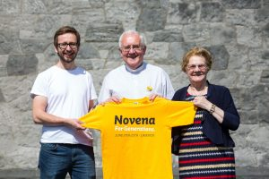 At the launch of the Limerick Novena were Thomas Szram, Redemptorist rector, Fr Seamus Enright, and Theresa Delaney