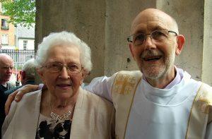 Padraic O'Sullivan with mother in law, Una O'Dwyer