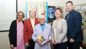 Sr Lisa Pires, Sr Nora Delaney, Sr Noela Fox, Sr Anne O'Leary and Fearghal O'Boyle of Columban Press at the official launch of 'A Dream Unfolds' at the Nano Nagle Centre, Ballygriffin, Mallow Co Cork. Photo by Sean Jefferies Photography.