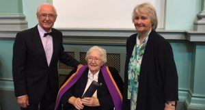 Sr. Dr. Hilary Lyons after receiving Hon Fellowship from RCPIa