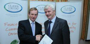 Paul OSullivan of Clann Credo with Taoiseach