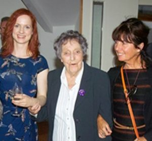 Sr Alphonsus O'Brien pictured with friends at the opening of a gallery in Bandon in 2012