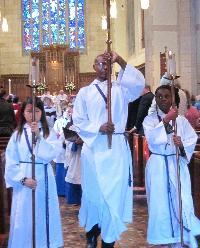 Acolytes in procession