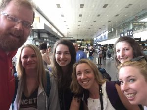 At the airport some of the MSC group with Fr Alan