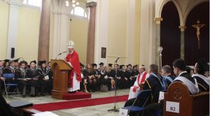 Archbishop Martin with Mater Dei graduates in 2012 at Mater Dei Institute of Education.