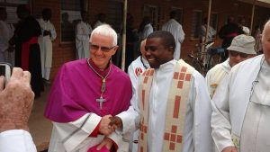 Irish Kiltegan missionary Bishop John Ryan after his ordination as Bishop of Mzuzu in Malawi. Pic courtesy: Kiltegan Fathers.