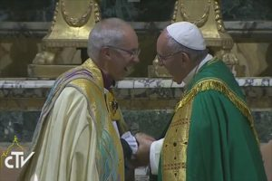 Archbishop Welby and Pope Francis