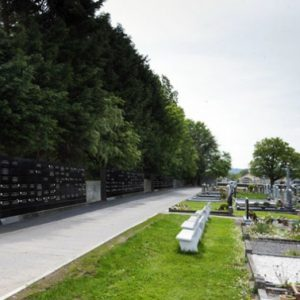 Columbarium Wall (for cremated remains) in Glasnevin Cemetery, Dublin .