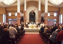 Resurrection Church, n.b the statue behind the altar