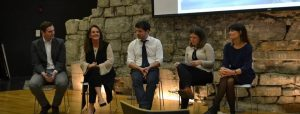 Panel discussion with Cathal Kenna film maker, Clare Waldron & Gerard Ward - cast members, Sarah Owen Crosscare & Ciara Kenny Irish Times Abroad
