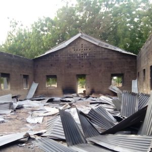 A burnt out church in Nigeria (Pic ACN)
