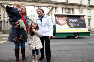 Sister Stan and Sinead Compton (Focus Ireland) with her children Aaron and Meabh.