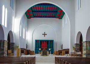 newly renovated church at Glenstal