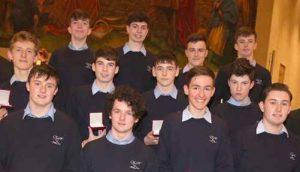 JPII Award winners from St Gerald's College, Castlebar