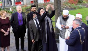 Faith leaders attend the launch of the first Dublin City Interfaith Charter at the Mansion House. Pic Lynn Glanville.