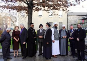 Faith leaders attend the launch of the Dublin City Interfaith Charter. Pic: Lynn Glanville