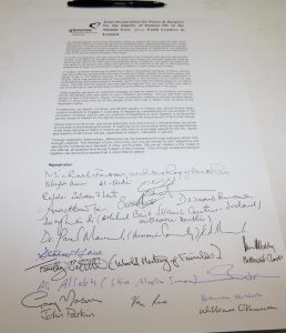 The Glencree Declaration. Photo: Lynn Glanville.