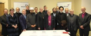The signatories of the Glencree Declaration on the Dignity of Human Life in the Holy Land. Photo: Lynn Glanville.